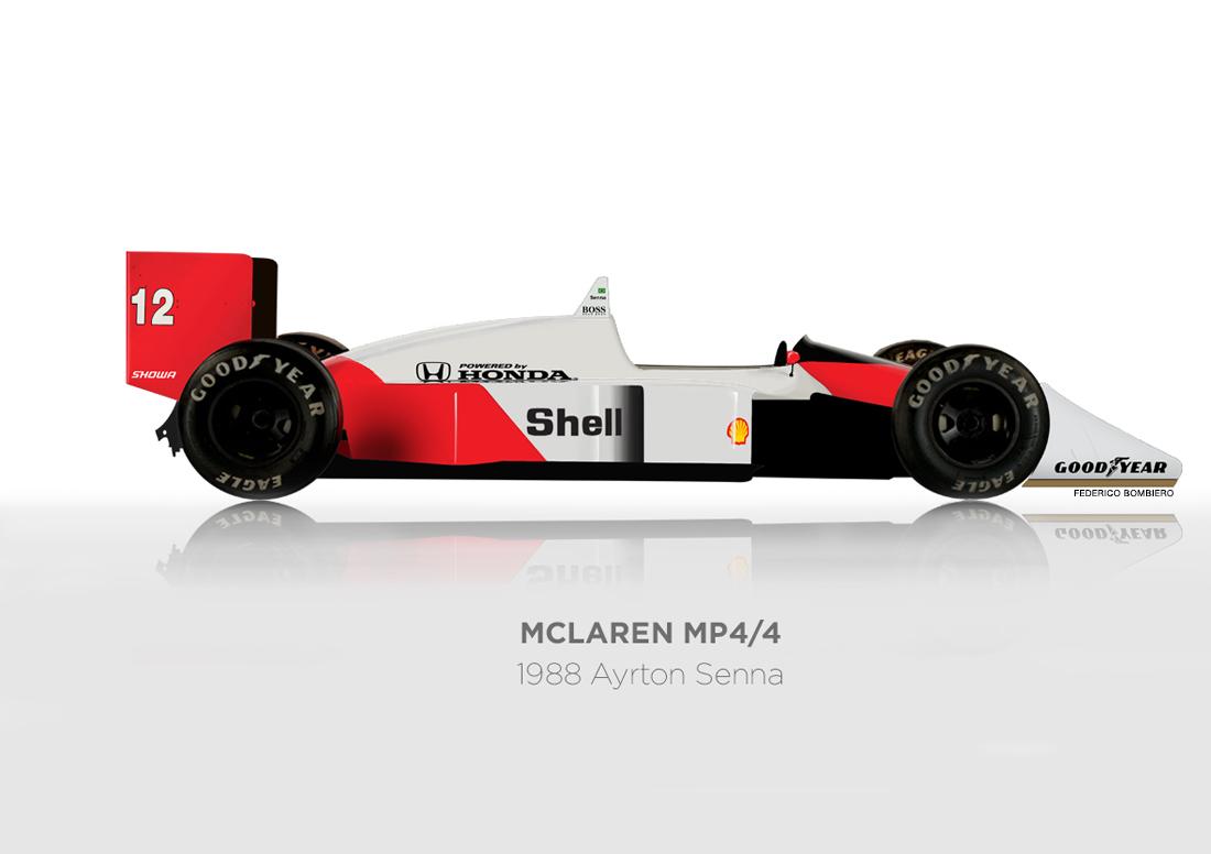 Ayrton Senna – McLaren MP4/4 – 1988