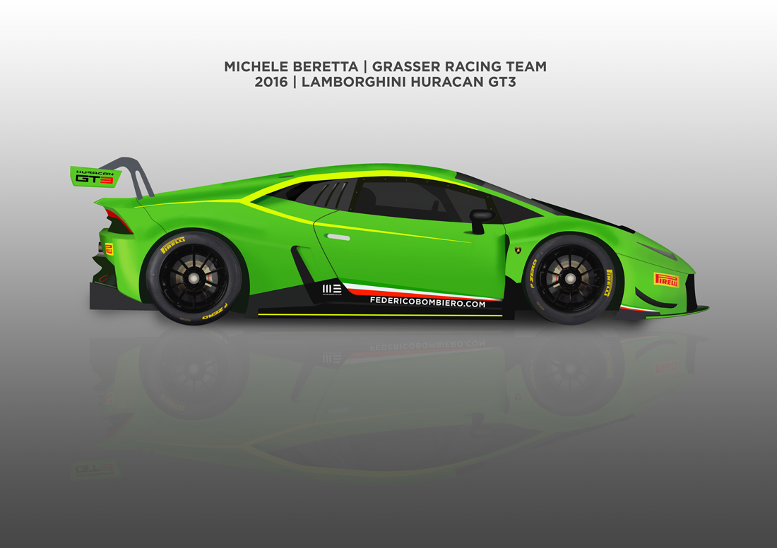 Michele Beretta – 2016 Lamborghini Huracan Grasser Blancpain Team